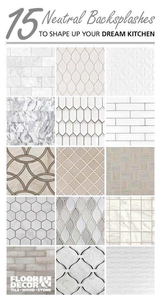 shop neutral backsplash tiles from floor & decor   kitchen