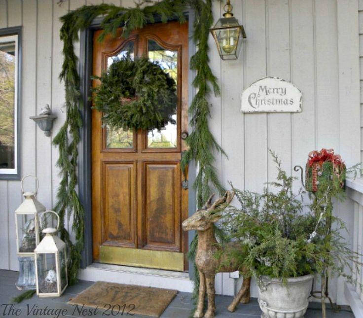 Pinterest Christmas Porch Decorations: 17 Best Images About Front Door Ideas On Pinterest
