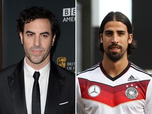OMG! Borat jugando con Alemania!! Nope, es Sami Khedira, de la selección alemana, que fácilmente podría ser confundido como el hermano gemelo de Sacha Baron Cohen