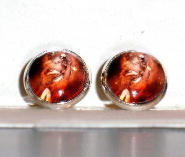 Ohrringe und Ohrstecker im Onlineshop - Verrückte Ohrringe und Schmuck Welt  - Ohrstecker Meerjungfrau Skelett Cabochon Glas Ohrschmuck Damen Metall Legierung Neuware
