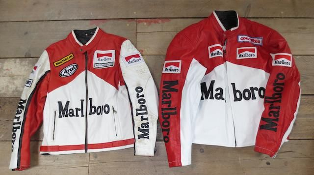 Two Marlboro McLaren Leather Jackets, ((3) ) (With images