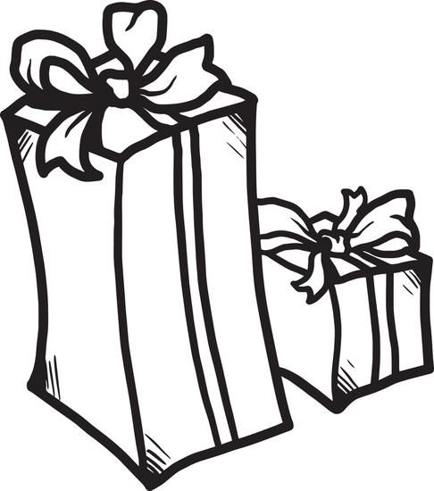 christmas presents coloring page 1 - Christmas Presents Coloring Pages