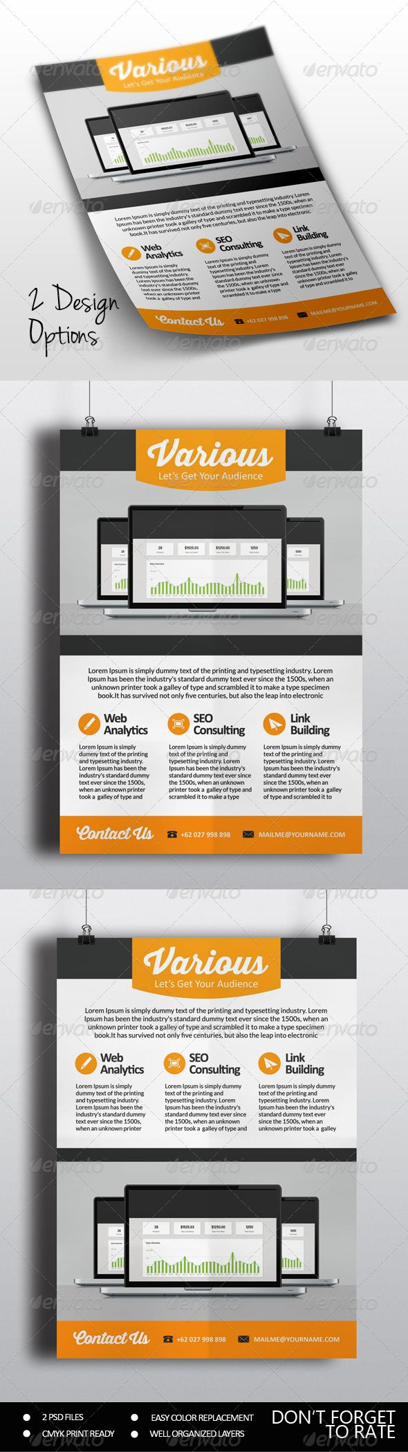 marketing flyers  seo marketing flyer template psd buy and graphicriver