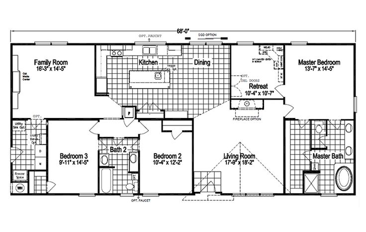 Palm Harbor Texas Floor Plans: Palm Harbor's The Pecan Valley III KHT368D5 Or KH30683P Is