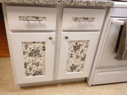 spruce up the outside of your kitchen cabinets with contact paper. beautiful ideas. Home Design Ideas