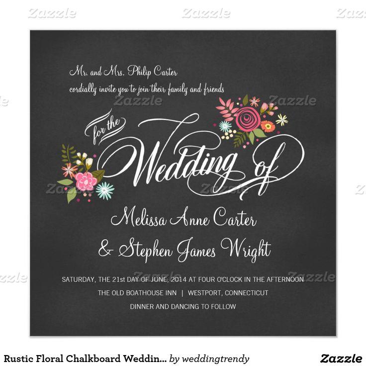 Rustikale Blumentafel Hochzeits Einladungen Karte