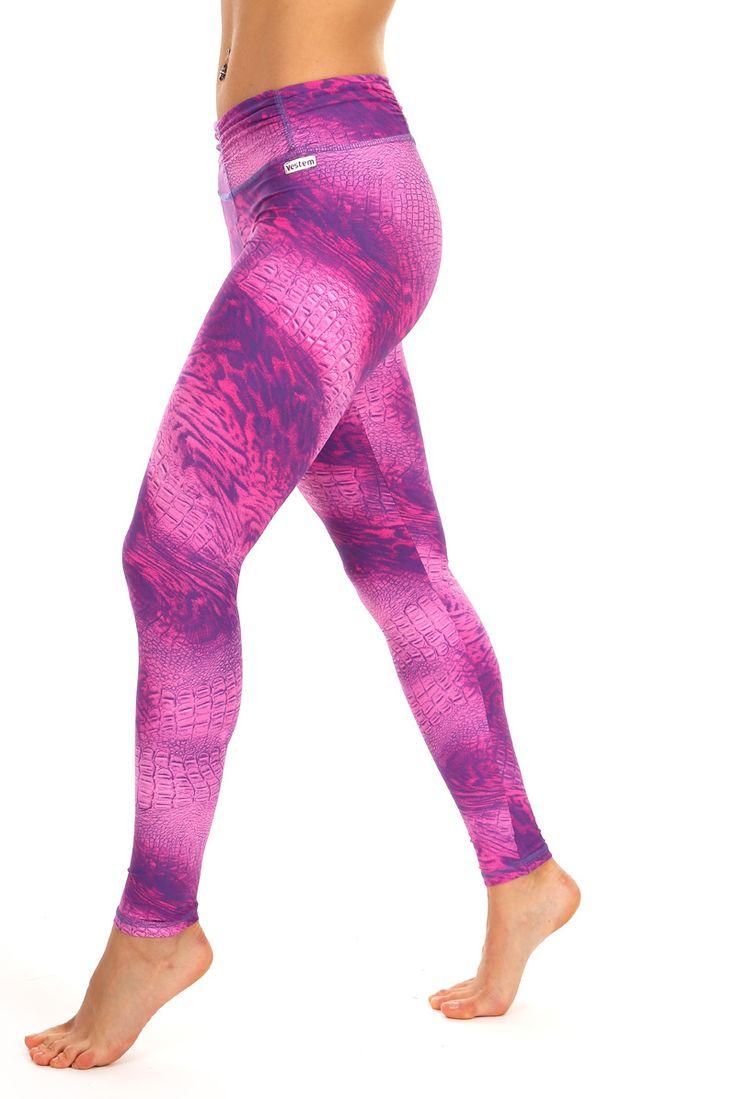 Vestem Pink Crocodile Leggings | Daisy Fitness Wear