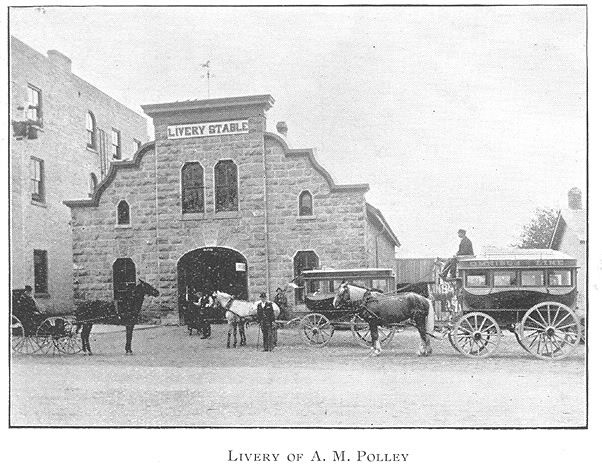 Livery Stable of A.M. Polley, Goderich, Ontario c.1897 #Goderich #RediscoverGoderich #VintageGoderich