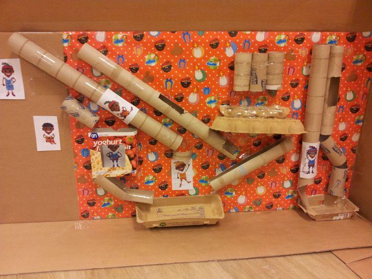 de binnenkant van een kartonnen doos!