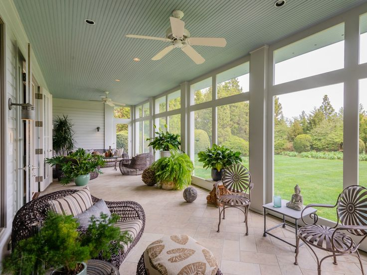 What are some ideas for enclosing a porch?