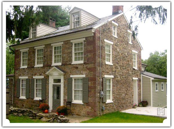 88 best stone houses images on pinterest stone houses for Fieldstone house