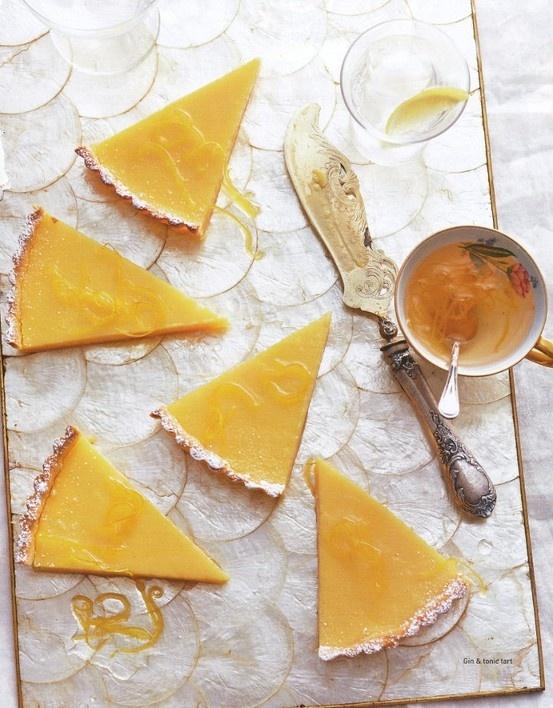 Gin & Tonic Lemon Tart