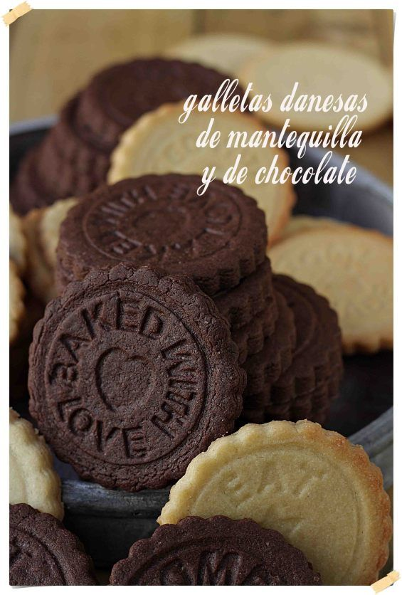 Galletas Danesas de Mantequilla y de Chocolate