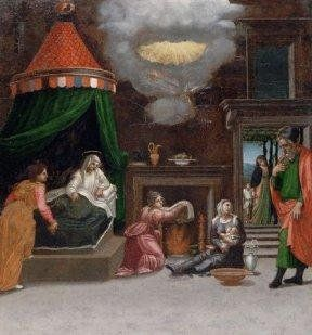 Рождество Богородицы. Берто ди Джованни, 1517г
