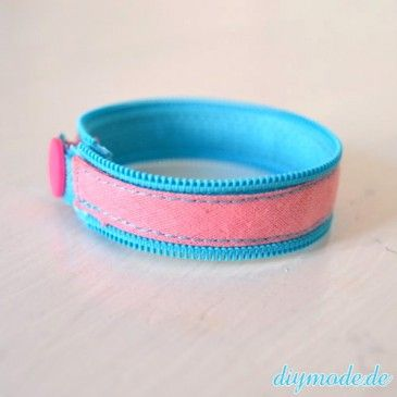 DIY Reißverschluss Armband selber machen