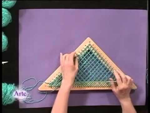 Hilados LHO en ARTEZ TV. Una Capa en telar tejida al bies. - YouTube Más