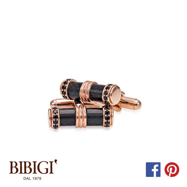Un design minimalista e materiali classici formano la collezione di gemelli  UOMO Bibigì. Disegni non