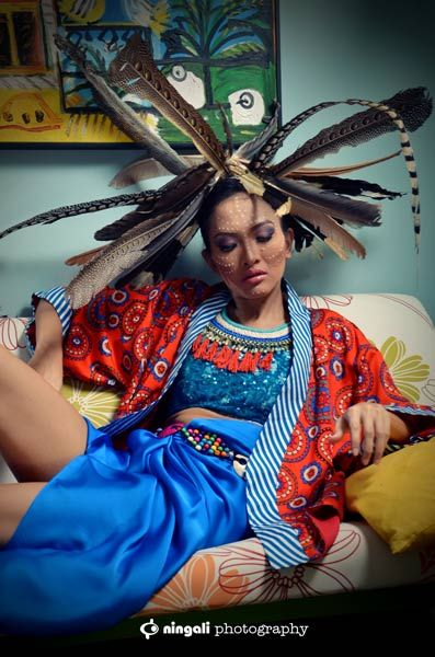 TRIBAL Spirit #model #makeup #fashion #tribal #wardrobe #anantakanapi #fashionphoto #photofashion #ningaliphotography #jogja #indonesia