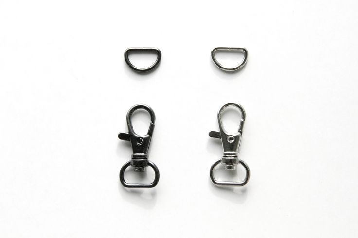 Wristlet Hardware - 1/2 inch, Swivel Hook and D Ring