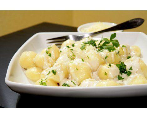 Ñoquis de papa con salsa cuatro quesos Receta | Recetas de comidas - Yahoo! Mujer Argentina