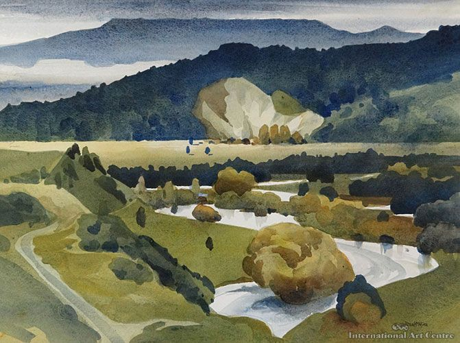 Peter McIntyre (1910-1995) - Whakapapa River, King Country