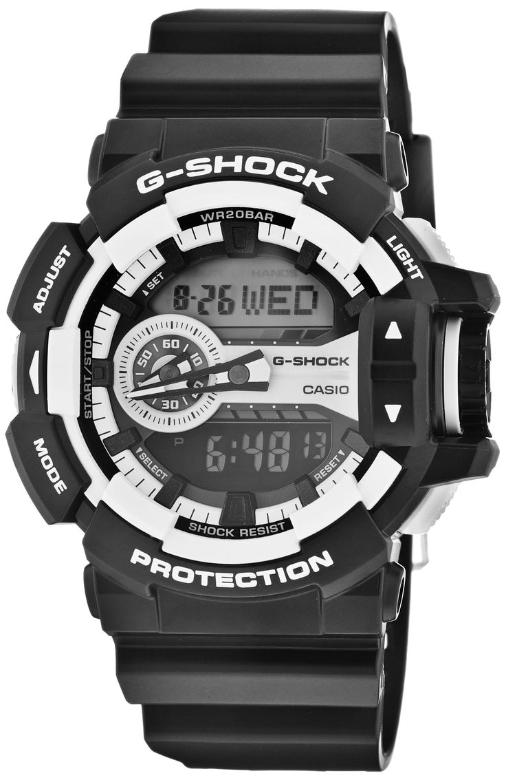 Casio G-Shock GA-400-1A Multi-Dimensional Analog Digital Watch. Shock Resistant. 200 Meter Water Resistant. 1/100 Second Stopwatch. Countdown Timer. Super LED light.