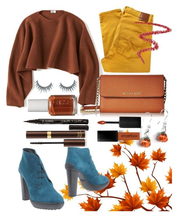 """""""Fall Swag"""" by c-parker-lucas ❤ liked on Polyvore featuring Uniqlo, Nobody Denim, Tod's, Unicorn Lashes, Smith & Cult, By Terry, Essie and Tom Ford"""