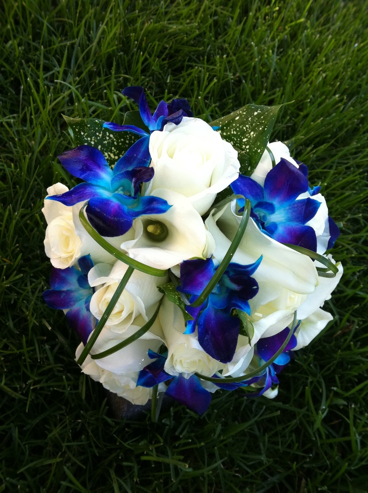 Not that I'm ever getting married but I love  love love the blue   Wedding completely based around the blue/purple orchid...