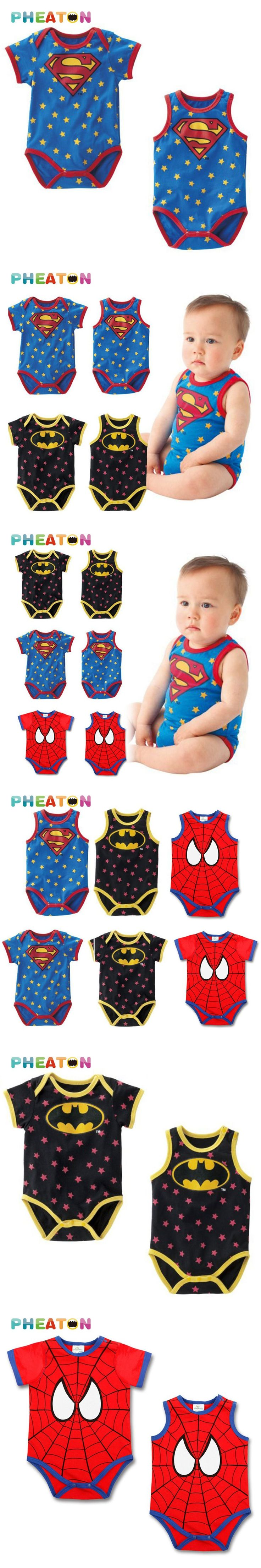 Newborn Baby Rompers Spiderman Baby Clothes Batman Baby Boy Romper Superman Short Sleeve Jumpsuits Children Clothing