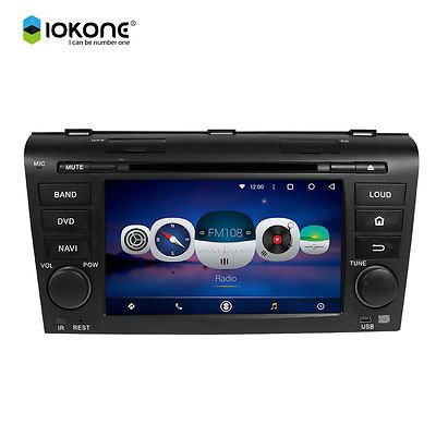 "7"" Android 5.1 Mirror Link Car DVD GPS Navi Stereo Radio For MAZDA 3 2004-2009"