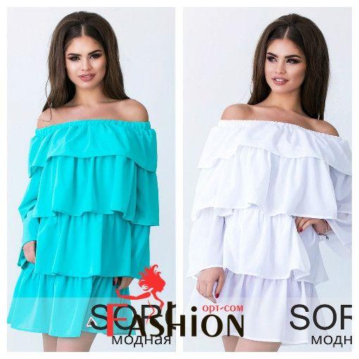 👗1️⃣1️⃣2️⃣4️⃣руб👗 Платье воланы 064 Размер: S; M Производитель: Sorokka Ткань: Шифон Длина: Мини Цвета: белый, коралловый, бирюзовый.