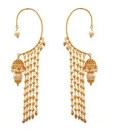 Buy Golden gold plated pearl ear cuffs ear-cuff online