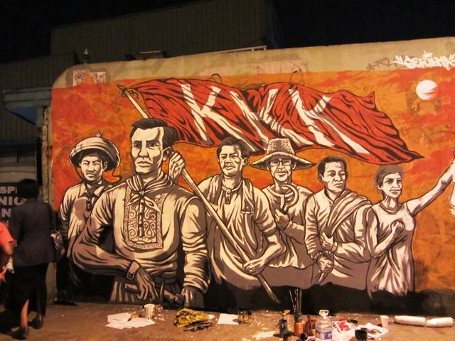 Artists Group Gerilya From The Philippines Painted A Mural On The