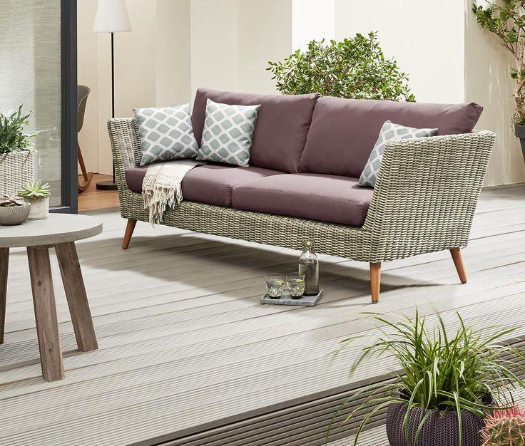 Die besten 25+ Polyrattan sofa Ideen auf Pinterest | Rattan ...