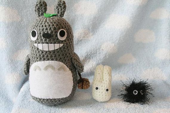 Crochet My Neighbor Totoro Set Totoro Small White by AmiAmigos