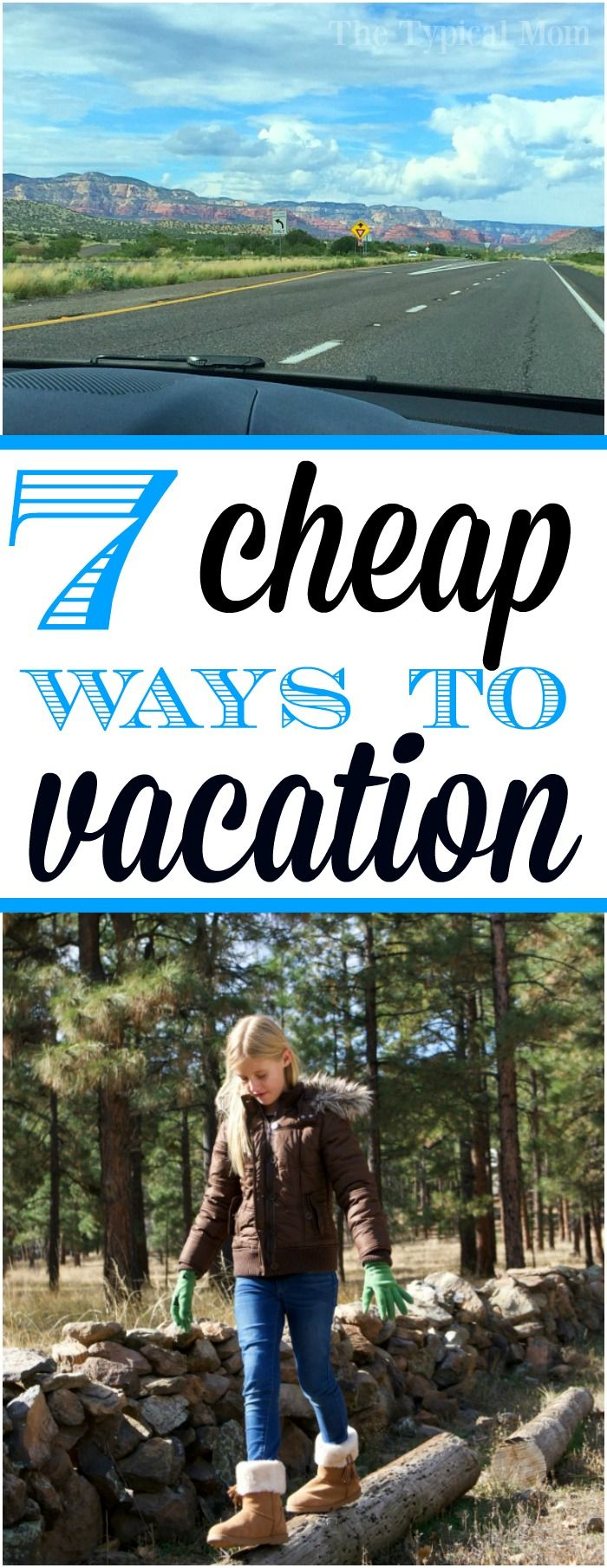 7 cheap weekend trips your whole family will love and you can afford! What to do and where to go when you want to get away but still stay on budget. AD via @thetypicalmom
