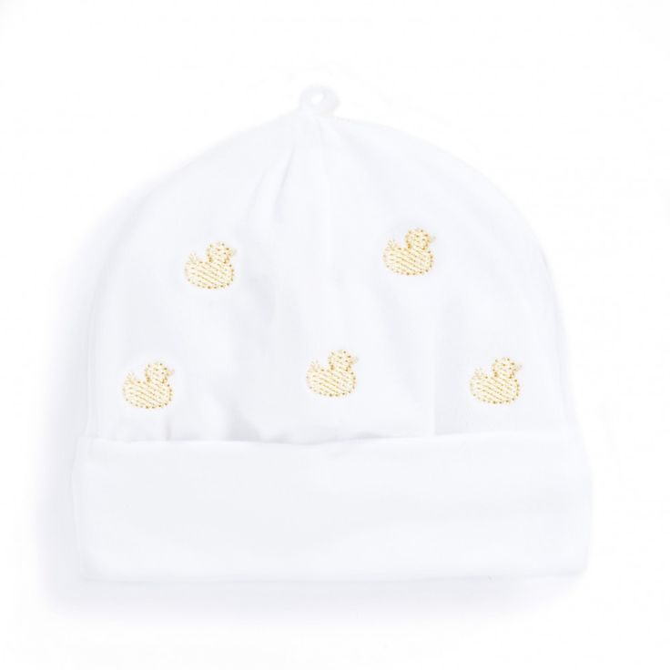 Duck Embroidered Baby Hat | JoJo Maman Bebe