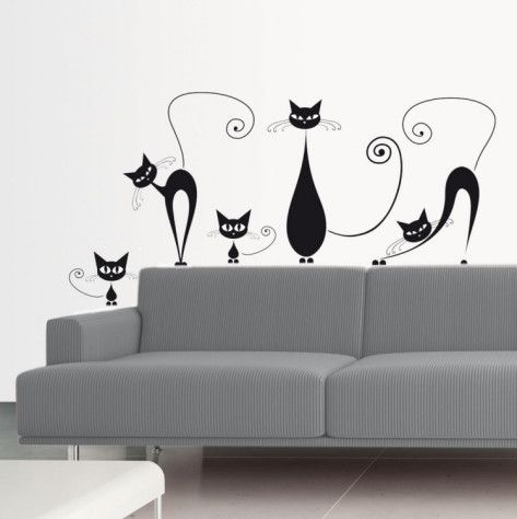 Decals are an inexpensive way to decorate a room and can be changed anytime.  Site has lots of cool wall and window decals.