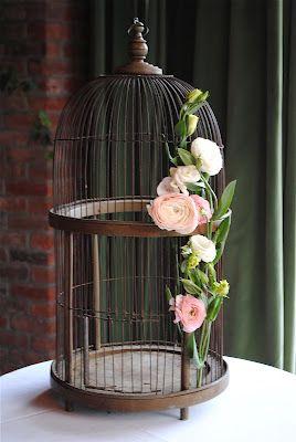 birdcage= perfect rustic chic wedding staple