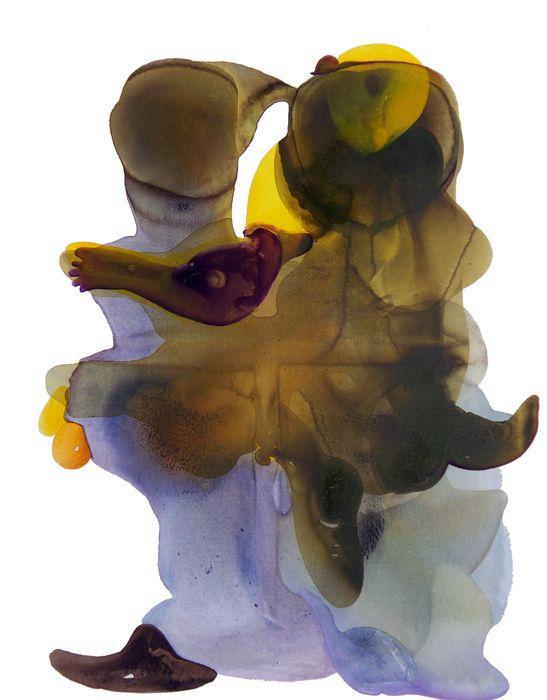Gulten Imamoglu, Adam and Eve, 2008 - Acrylic on canvas 146.5x114 cm