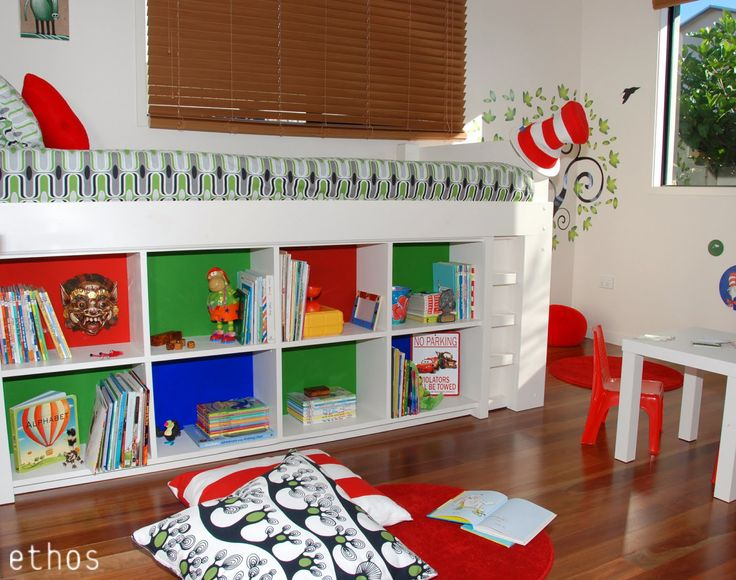 This room was designed for a five year old boy who loves Dr Seuss books. His parents didn't want a 'themed' room that he would quickly grow out of, but still wanted something colourful and fun for his age, that could be updated easily later. I was asked to keep the wall colour and timber ...continue reading