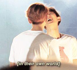 "jingyeolbaeks: ""baekhyun and chanyeol forever flirting making each other laugh (≧∀≦)"""