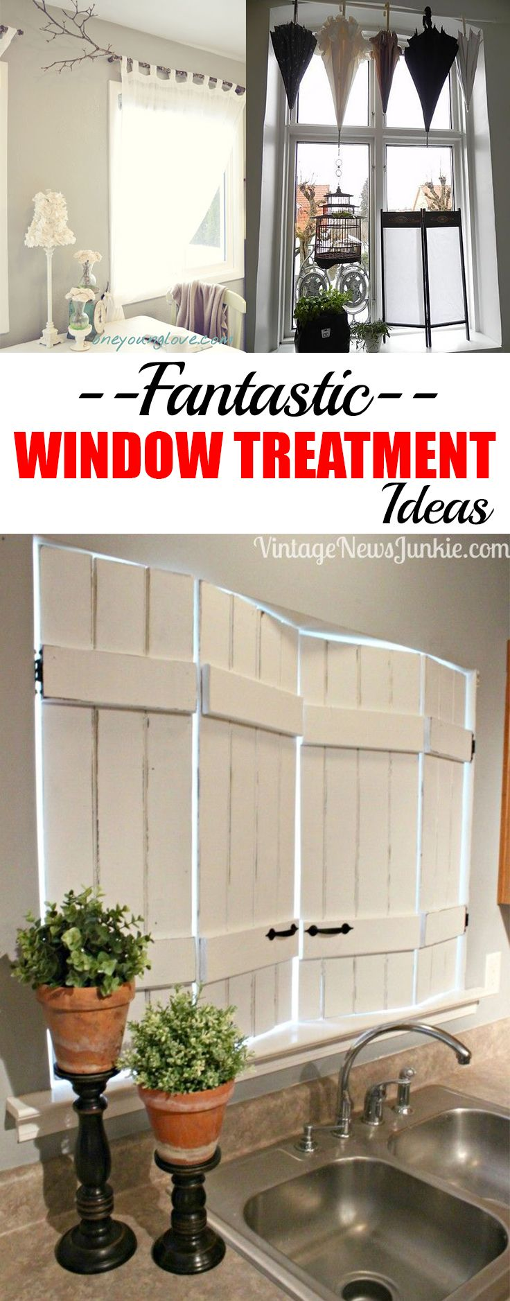 Unique rustic window treatments - Fantastically Unique Window Treatment Ideas Great Ideas To Upcycle Old Treasures To Dress Your Windows