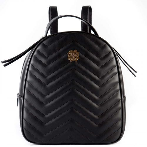 Black quilted backpack  a029d48d25b