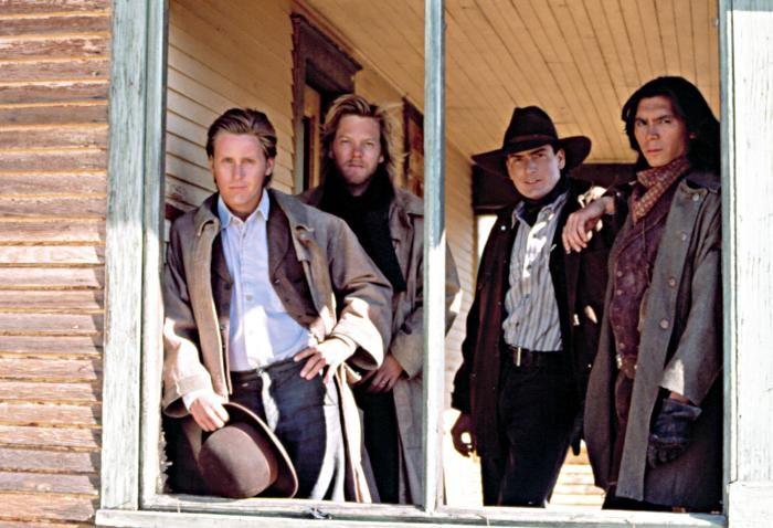 emilio estevez young guns | YOUNG GUNS, Emilio Estevez, Kiefer Sutherland, Charlie Sheen, Lou ...