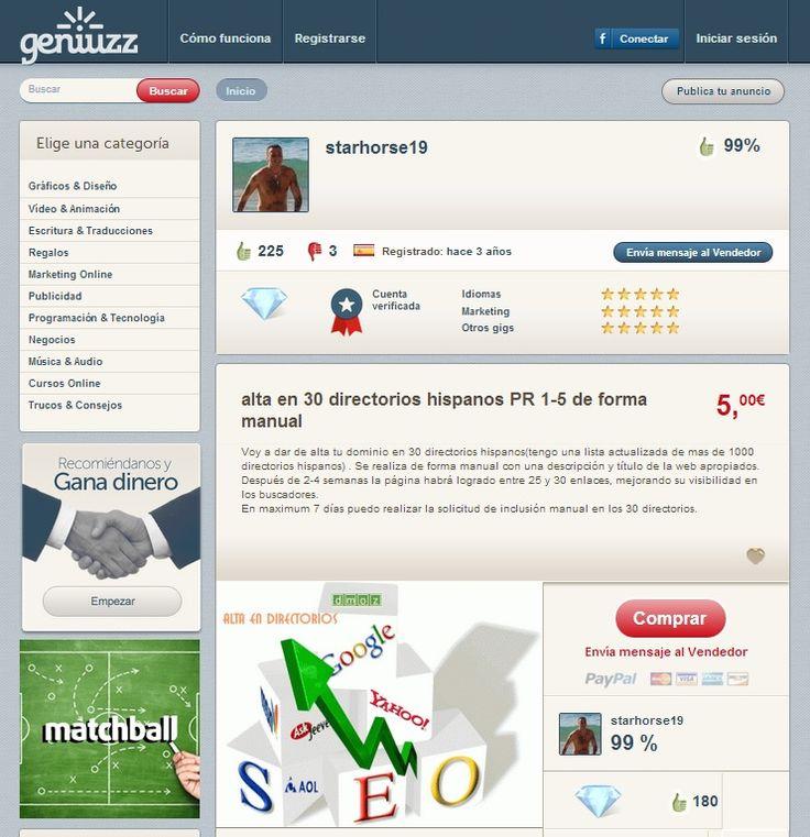 Starhorse19 Experto en Seo, marketing, idiomas http://www.geniuzz.com/starhorse19