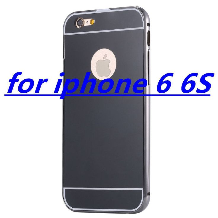 With LOGO! Mirror Case for Apple iPhone 5 5S 6 6S /for iPhone6S 6 Plus 5.5 Luxury Plating Metal Aluminum Frame Back Mobile Cover