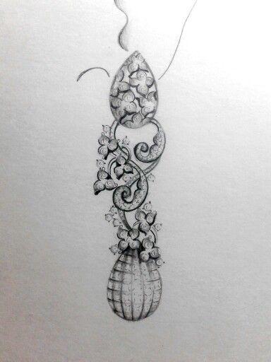 84 Best Jewellery Rendering / Hand Sketches Images On Pinterest | Jewellery Sketches Jewelry ...