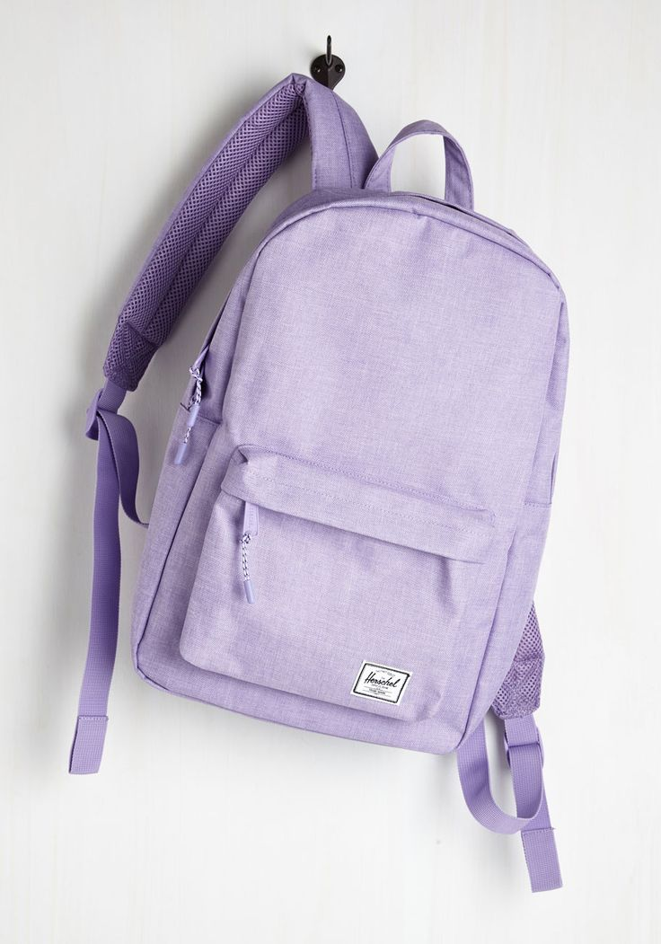 Pack on Track Backpack in Lilac by Herschel Supply Co. - Lavender, Solid, Casual, Spring, Summer, Good