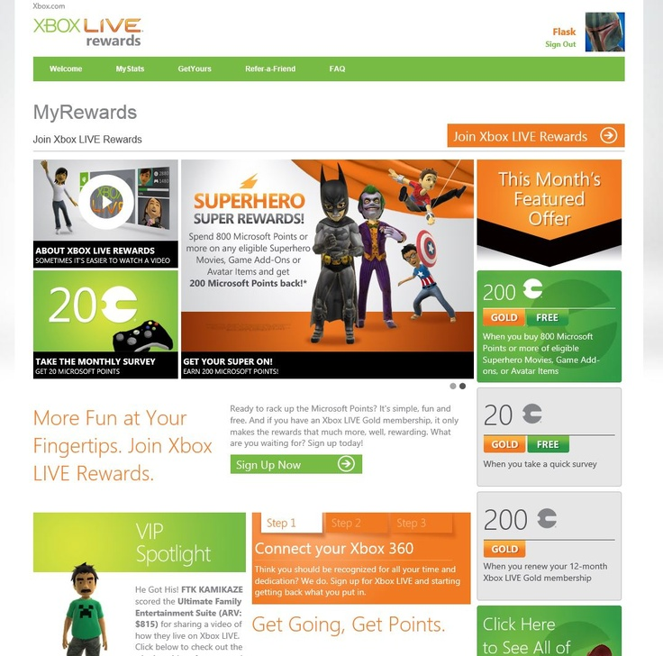 XBox LIVE website. It has a forum base. I like how it sticks to the main colors. (that's not a screen shot of my account)